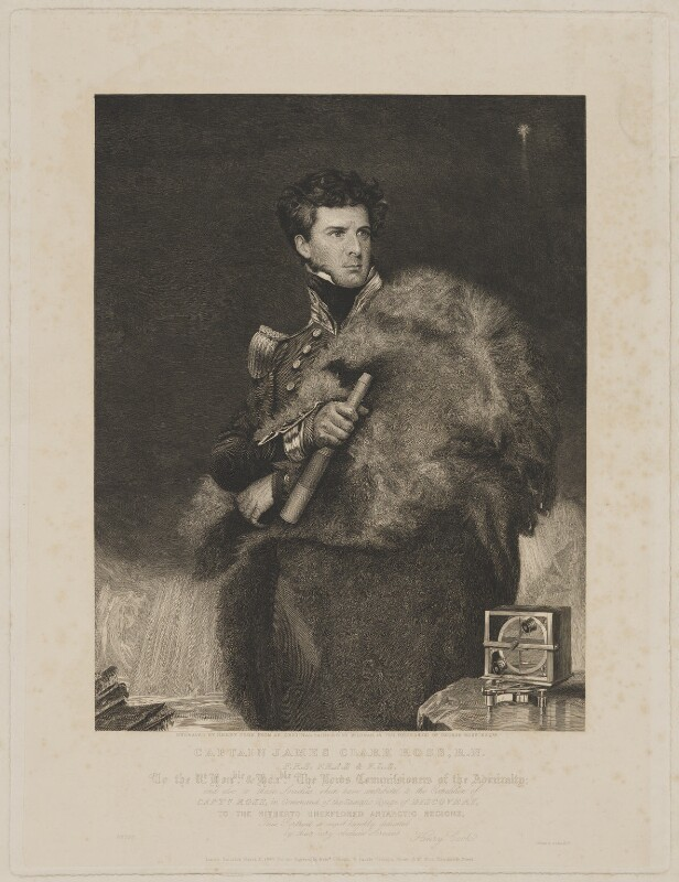 Sir James Clark Ross, by and published for Henry Richard Cook, printed by  Lahee & Co, published by  Colnaghi and Puckle, published by  Sir Francis Graham Moon, 1st Bt, after  John Robert Wildman, published 3 March 1840 (1834) - NPG D39883 - © National Portrait Gallery, London