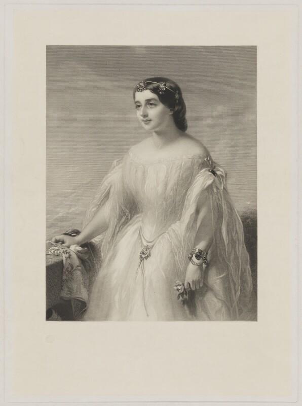 Evelina Gertrude de Rothschild, by Samuel Bellin, after  James Sant, published 1857 - NPG D39893 - © National Portrait Gallery, London