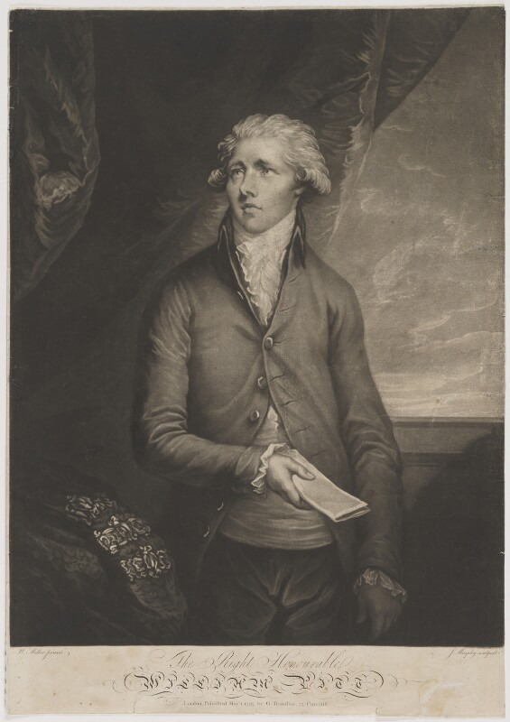William Pitt, by John Murphy, published by  Gaetano Testolini, after  William Miller, published 1 May 1797 - NPG D40242 - © National Portrait Gallery, London
