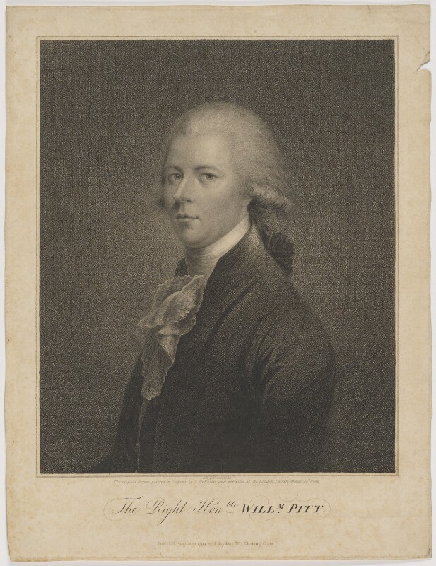 William Pitt, published by John Brydon, after  Simon de Koster, published 13 August 1799 - NPG D40247 - © National Portrait Gallery, London