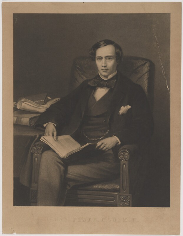 James Platt, by Samuel Bellin, published by  Thomas Agnew & Sons Ltd, after  William Percy, published 20 October 1859 - NPG D40262 - © National Portrait Gallery, London