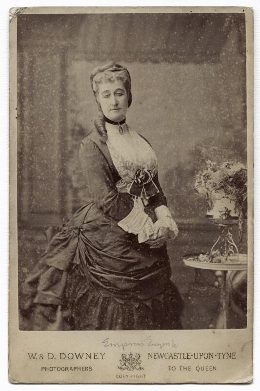 Eugénie, Empress of France, by W. & D. Downey, 1872? - NPG x134615 - © National Portrait Gallery, London