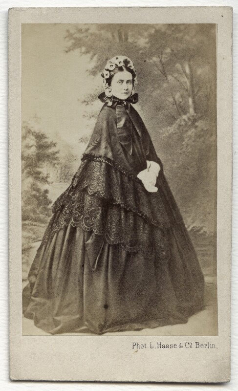 Victoria, Empress of Germany and Queen of Prussia, by L. Haase & Co, early 1860s - NPG x134617 - © National Portrait Gallery, London