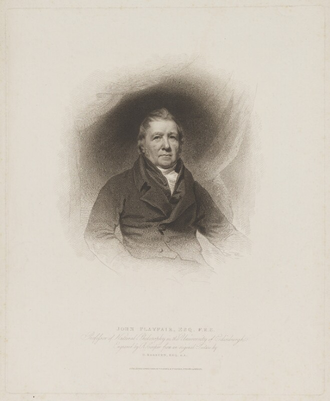 John Playfair, by R. Cooper, published by  T. Cadell & W. Davies, after  Sir Henry Raeburn, published 1 April 1816 - NPG D40267 - © National Portrait Gallery, London