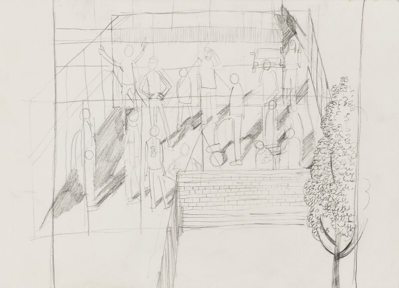Compositional study of children's playground, by Stuart Pearson Wright, 2005 - NPG 6745(1) - © National Portrait Gallery, London