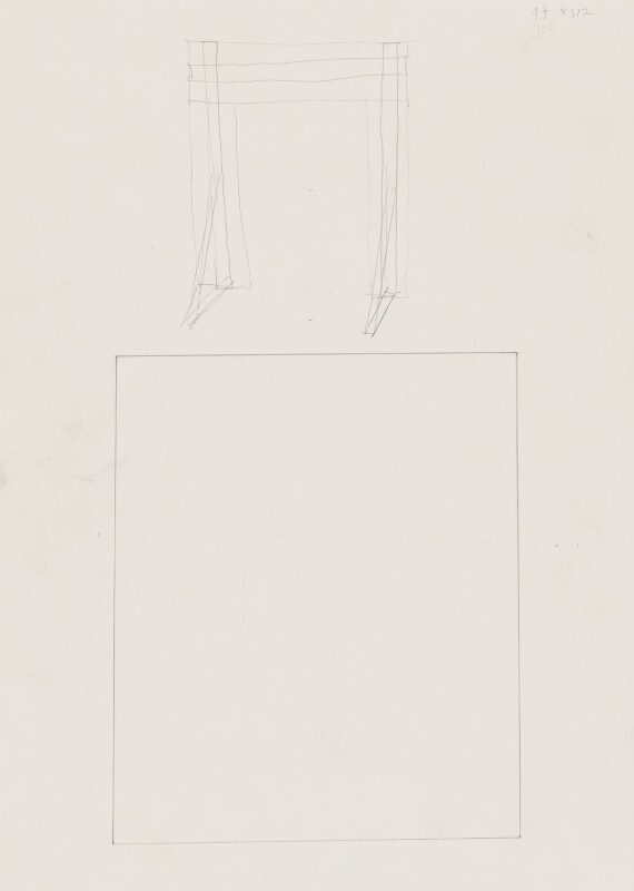 Design study for 'Scene from a Play', by Stuart Pearson Wright, 2005 - NPG 6745(11) - © National Portrait Gallery, London