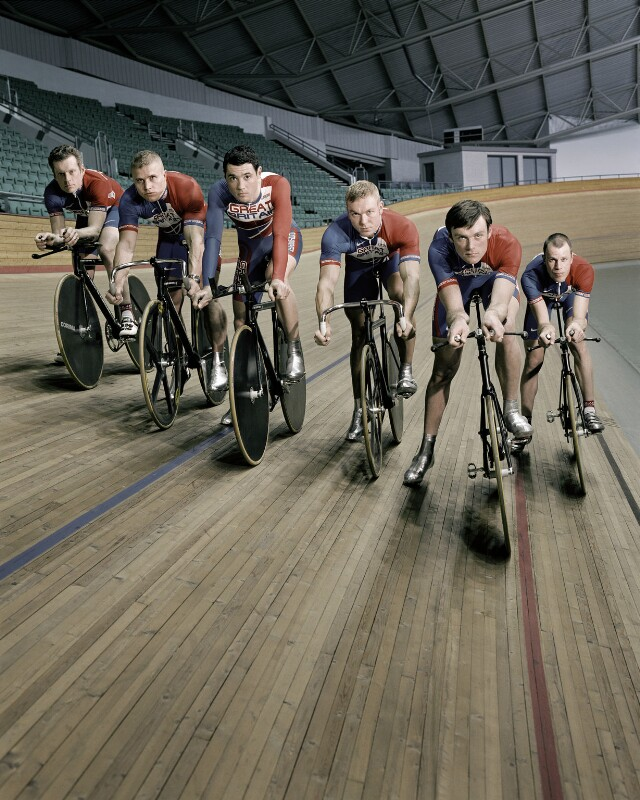 British cycling squad, by Anderson & Low, 8 March 2004 - NPG x134645 - © reserved; collection National Portrait Gallery, London