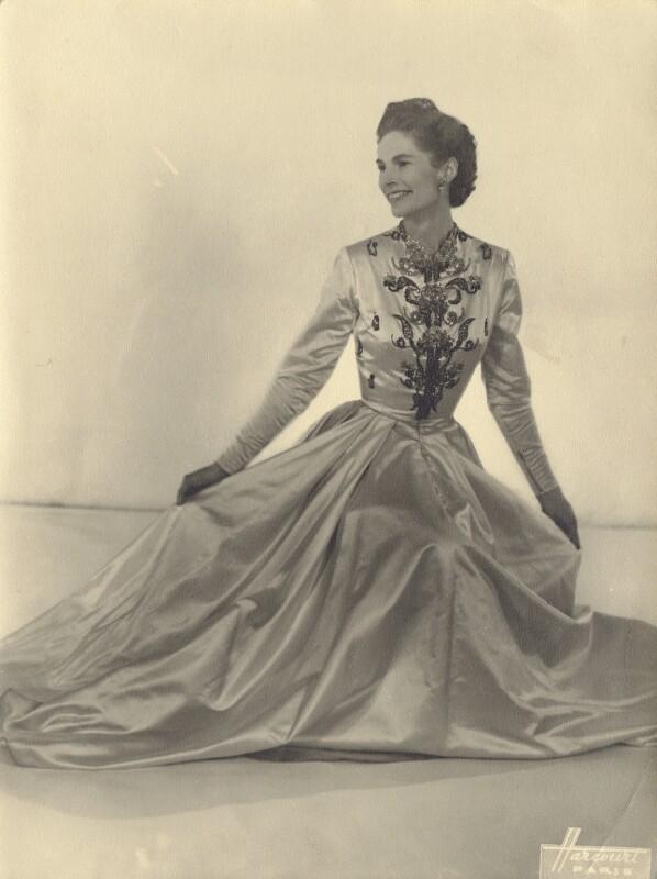 Lady Alexandra Henrietta Louisa Haig (later Alexandra Trevor-Roper, Lady Dacre), by Studio Harcourt, May 1948 - NPG x134557 - © Studio Harcourt