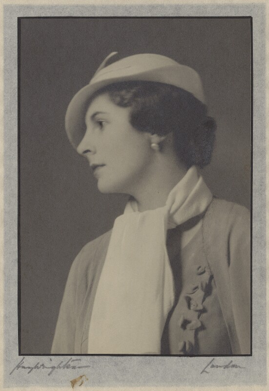 Lady Alexandra Henrietta Louisa Haig (later Alexandra Trevor-Roper, Lady Dacre), by Hay Wrightson, 1940s - NPG x134560 - © National Portrait Gallery, London
