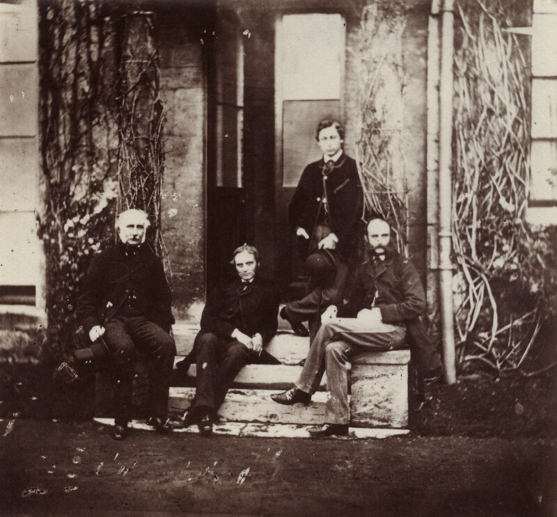 Hon. Robert Bruce; Herbert William Fisher; King Edward VII; Frederick Charles Keppel, by Hills & Saunders, circa 1858 - NPG x134652 - © National Portrait Gallery, London