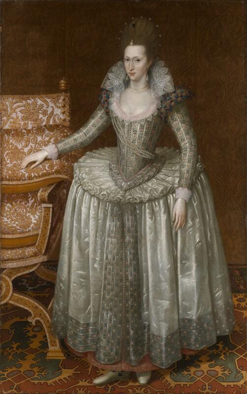 Anne of Denmark, by John De Critz the Elder, circa 1605-1610 - NPG 6918 - © National Portrait Gallery, London
