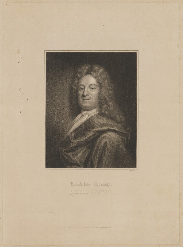 Ralph Thoresby, by William Holl Sr, published by  Robinson, Son & Holdsworth, published by  J. Hurst, after  Unknown artist, published 1 March 1816 - NPG D40308 - © National Portrait Gallery, London