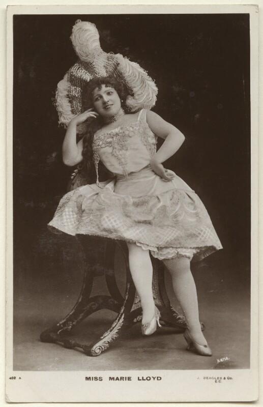 Marie Lloyd, by The Hana Studios Ltd, published by  J. Beagles & Co, 1890s - NPG Ax160002 - © National Portrait Gallery, London