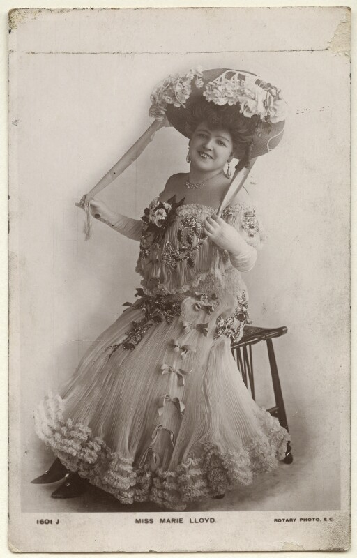 Marie Lloyd, published by Rotary Photographic Co Ltd, circa 1900 - NPG Ax160004 - © National Portrait Gallery, London