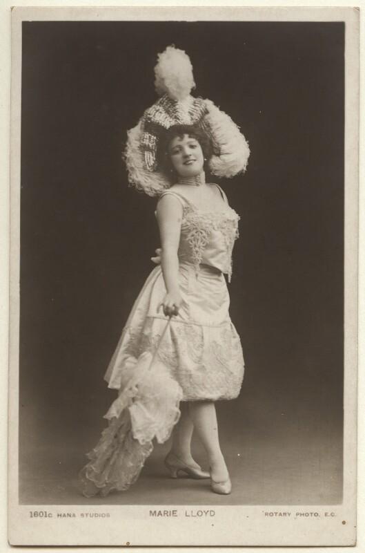 Marie Lloyd, by The Hana Studios Ltd, published by  J. Beagles & Co, 1890s - NPG Ax160011 - © National Portrait Gallery, London