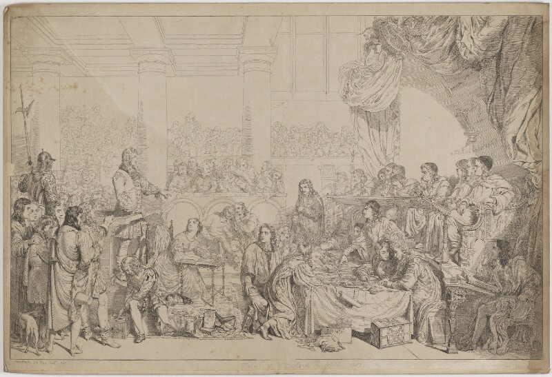 The Trial of William Russell, Lord Russell 1683, by Sir George Hayter, 1825 - NPG D39937 - © National Portrait Gallery, London