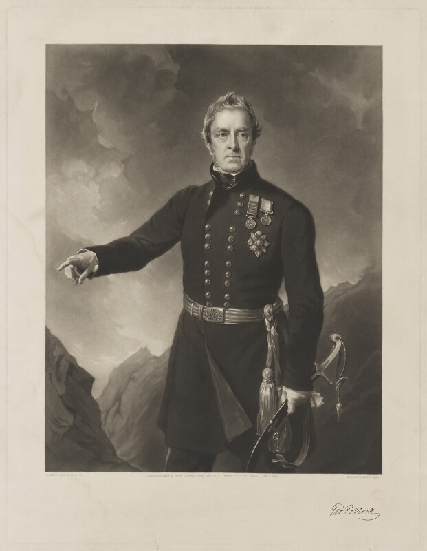 Sir George Pollock, 1st Bt, by James John Chant, published by  Henry Graves & Co, after  Sir Francis Grant, published 1 May 1857 - NPG D40334 - © National Portrait Gallery, London