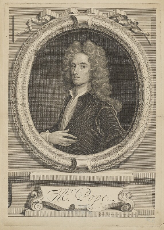 Alexander Pope, by George Vertue, after  Charles Jervas, 1715 (circa 1714) - NPG D40350 - © National Portrait Gallery, London