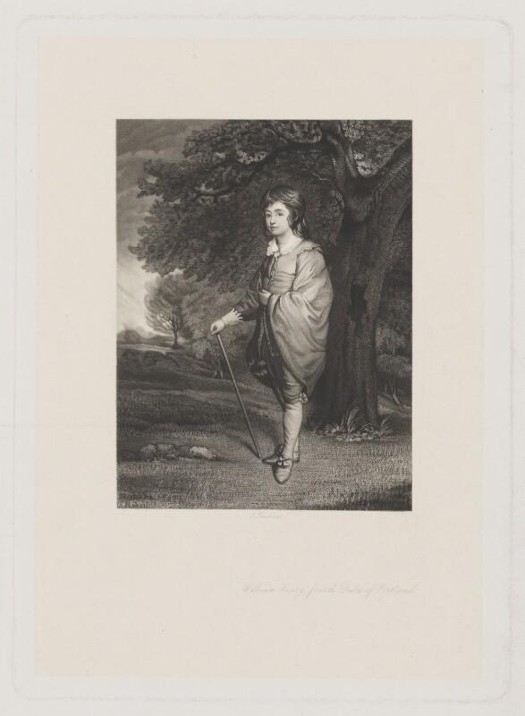 William Henry Cavendish-Scott-Bentinck, 4th Duke of Portland when Marquess of Titchfield, by Charles Algernon Tomkins, after  Sir Joshua Reynolds, (circa 1776) - NPG D40378 - © National Portrait Gallery, London