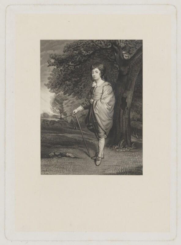 William Henry Cavendish-Scott-Bentinck, 4th Duke of Portland when Marquess of Titchfield, by Charles Algernon Tomkins, after  Sir Joshua Reynolds, (circa 1776) - NPG D40379 - © National Portrait Gallery, London