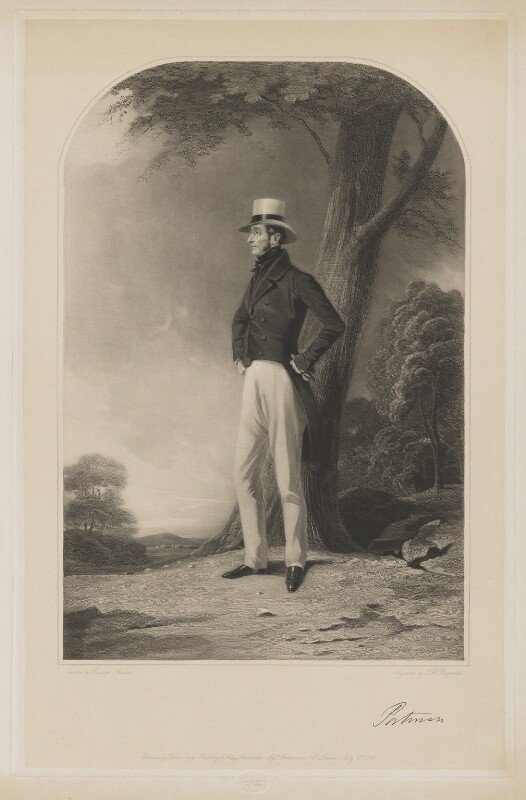 Edward Berkeley Portman, 1st Viscount Portman, by Samuel William Reynolds Jr, published by  Thomas Agnew, and published by  Ackermann & Co, after  Richard Ansdell, published 6 July 1846 - NPG D40381 - © National Portrait Gallery, London