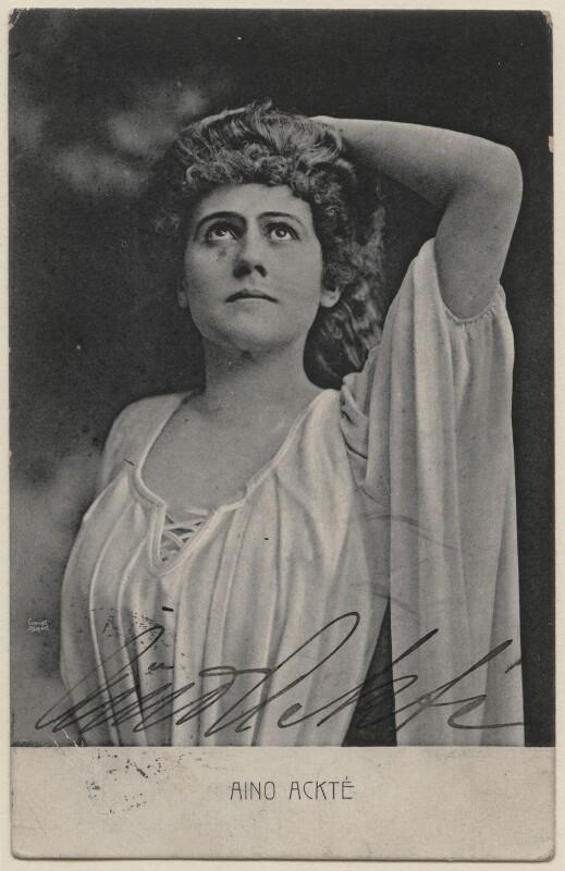 Aino Ackté, by Aimé Dupont, 1890s - NPG x134673 - © National Portrait Gallery, London