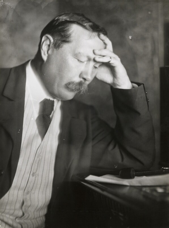 Arthur Conan Doyle, by Emil Otto ('E.O.') Hoppé, 1912 - NPG P1390 - © 2017 E.O. Hoppé Estate Collection / Curatorial Assistance Inc.