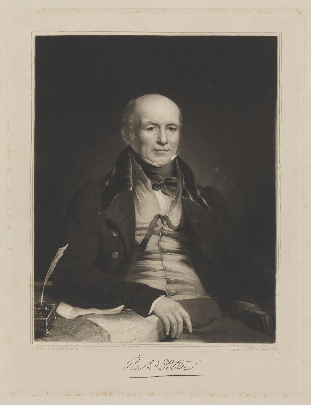 Richard Potter, by and after Samuel William Reynolds Jr, 1830s or 1840s - NPG D40393 - © National Portrait Gallery, London