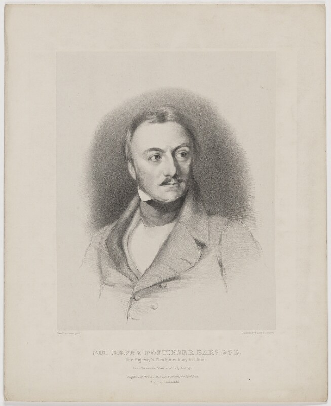 Sir Henry Pottinger, by Lowes Cato Dickinson, printed by  Charles Joseph Hullmandel, published by  Joseph Dickinson, after  Samuel Laurence, published December 1842 - NPG D40395 - © National Portrait Gallery, London