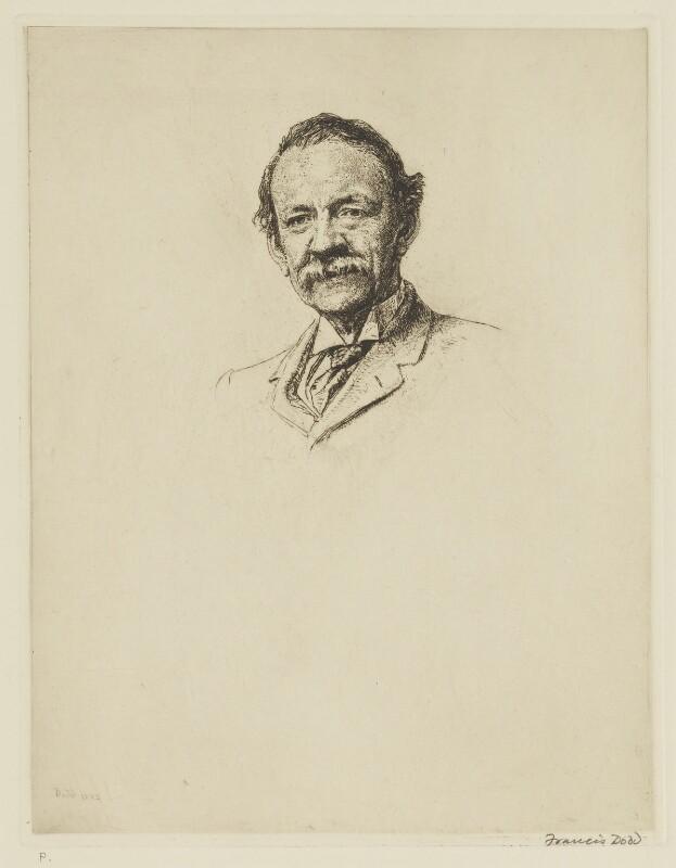 Sir Joseph John Thomson, by Francis Dodd, 1925 - NPG D40442 - © estate of Francis Dodd