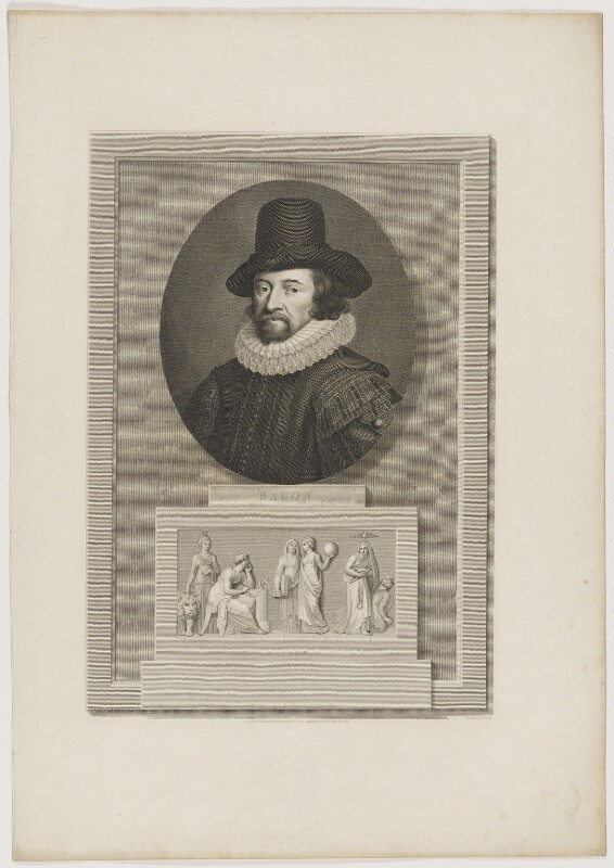 Francis Bacon, 1st Viscount St Alban, by C. Blackberd, published by  Robert Bowyer, published March 1800 - NPG D39989 - © National Portrait Gallery, London