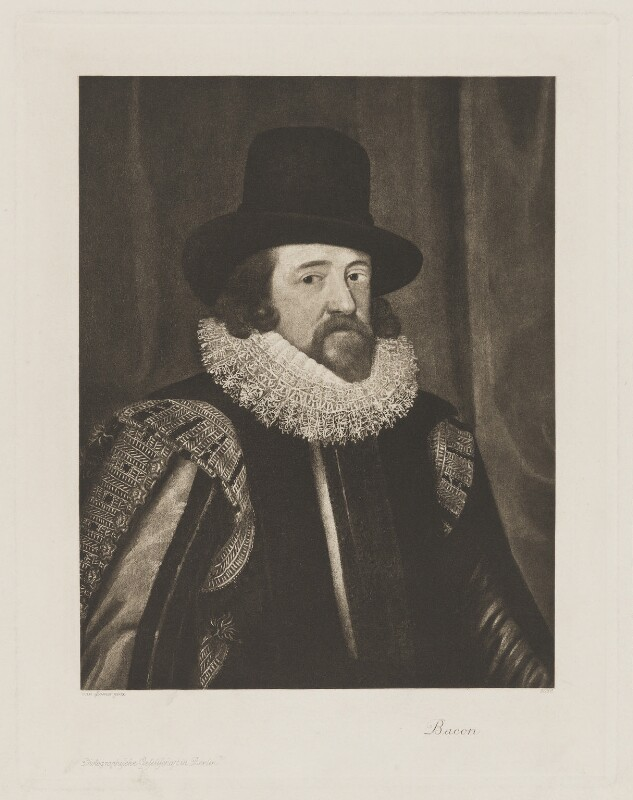 Francis Bacon, 1st Viscount St Alban, published by Photographische Gesellschaft, after  Unknown artist, circa 1900 (circa 1618) - NPG D39993 - © National Portrait Gallery, London