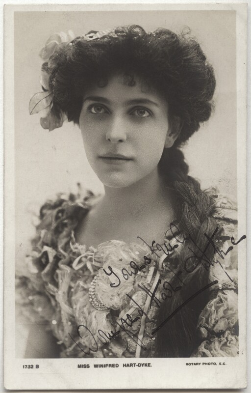 Winifred Hart Dyke, published by Rotary Photographic Co Ltd, 1900s - NPG x17431 - © National Portrait Gallery, London
