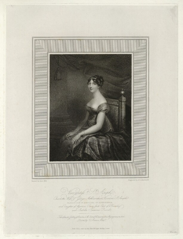 Charlotte Ashburnham (née Percy), Countess of Ashburnham when Viscountess St Asaph, by Niccolò Schiavonetti, published by and after  Anne Mee (née Foldsone), published 1 February 1812 - NPG D40002 - © National Portrait Gallery, London