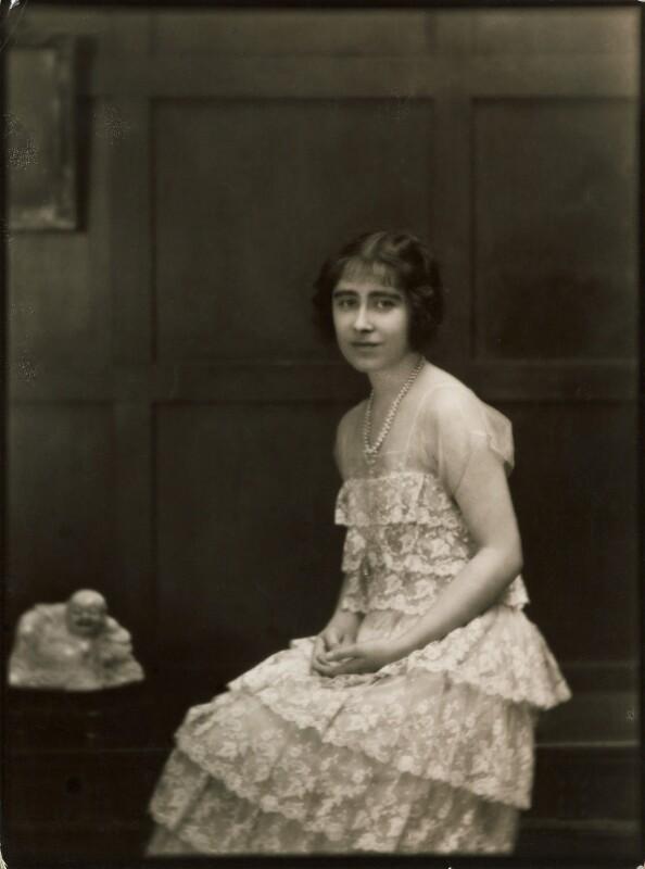 Queen Elizabeth, the Queen Mother, by E.O. Hoppé, 1923 - NPG P1391 - © 2017 E.O. Hoppé Estate Collection / Curatorial Assistance Inc.