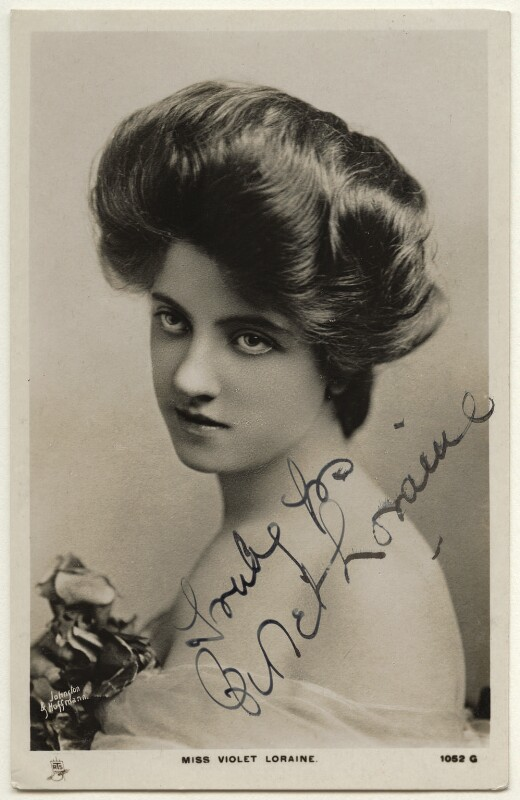 Violet Loraine, by Johnston & Hoffmann, published by  Raphael Tuck & Sons, 1900s - NPG Ax160099 - © National Portrait Gallery, London