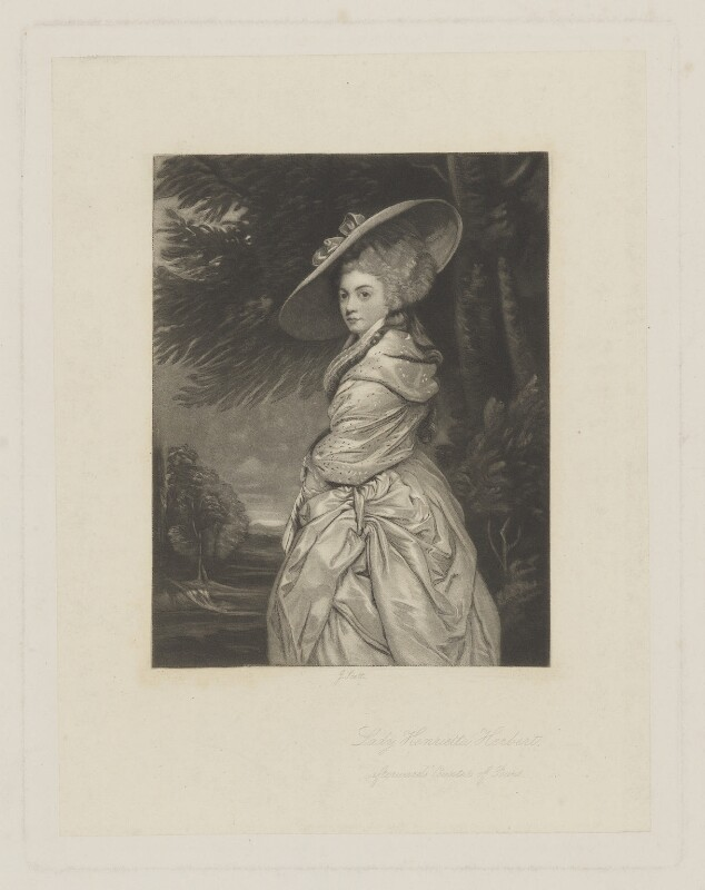 Henrietta Antonia Clive (née Herbert), Countess of Powis, by James Scott, after  Sir Joshua Reynolds, (1777-1778?) - NPG D40468 - © National Portrait Gallery, London