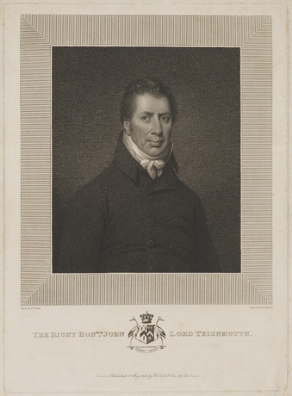 John Shore, 1st Baron Teignmouth, by Thomas Cheesman, published by  Robert Cribb & Son, after  Michael Keeling, published 1 May 1816 - NPG D40448 - © National Portrait Gallery, London