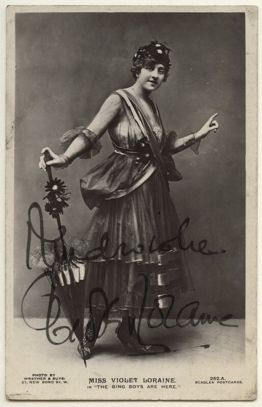 Violet Loraine in 'The Bing Boys Are Here', by Wrather & Buys, published by  J. Beagles & Co, 1916 - NPG Ax160131 - © National Portrait Gallery, London