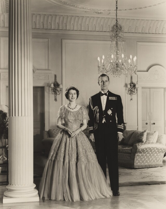 Queen Elizabeth II; Prince Philip, Duke of Edinburgh, by Baron Studios, 1951 - NPG P1423 - © Baron/Camera Press