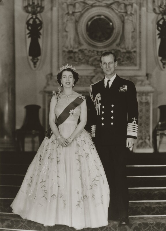 Queen Elizabeth II; Prince Philip, Duke of Edinburgh, by Baron Studios, November 1953 - NPG P1441 - © Baron/Camera Press