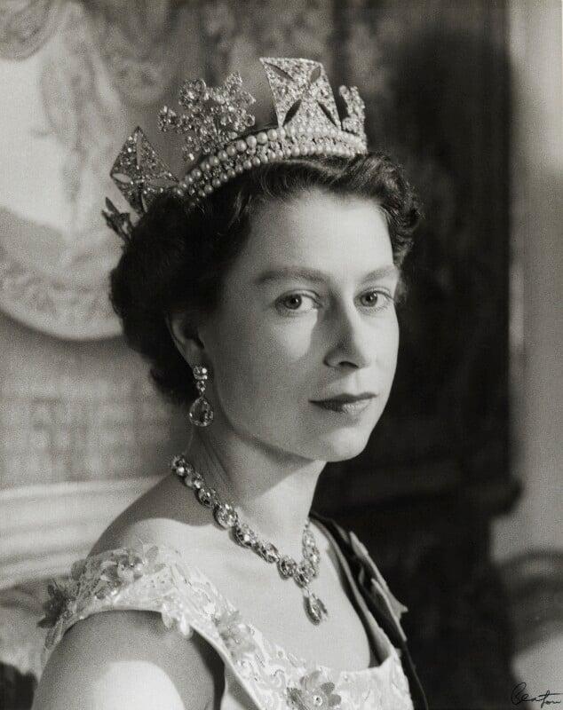 Queen Elizabeth II, by Cecil Beaton, November 1955 - NPG P1469 - © V&A Images