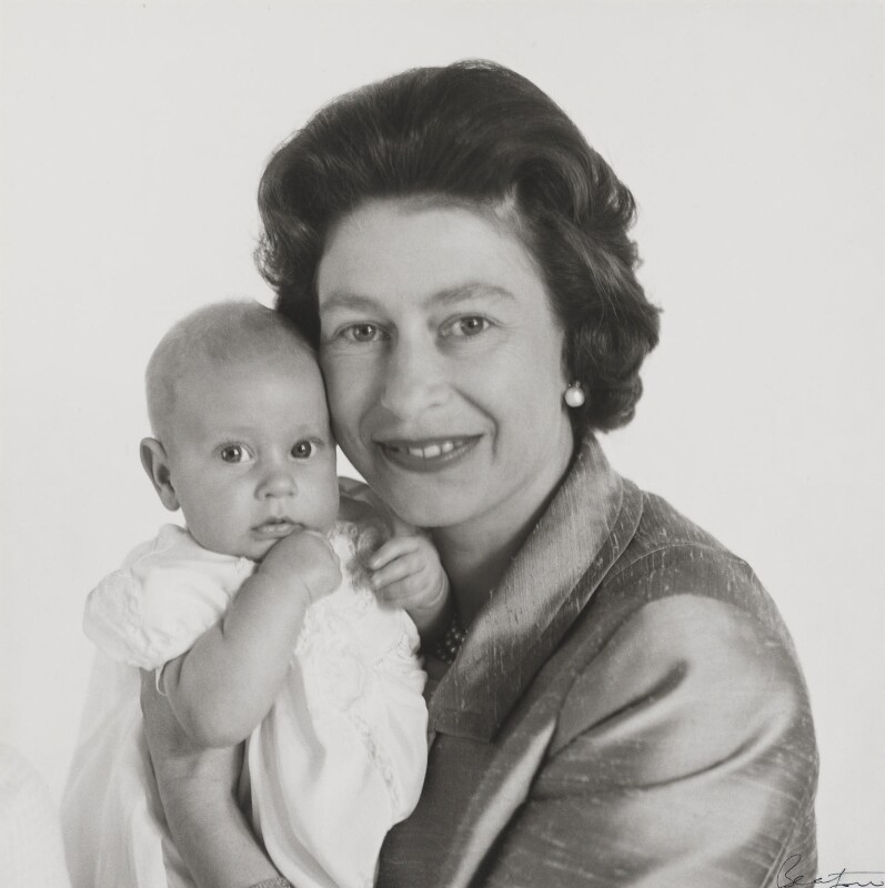 Prince Edward; Queen Elizabeth II, by Cecil Beaton, May 1964 - NPG P1484 - © V&A Images
