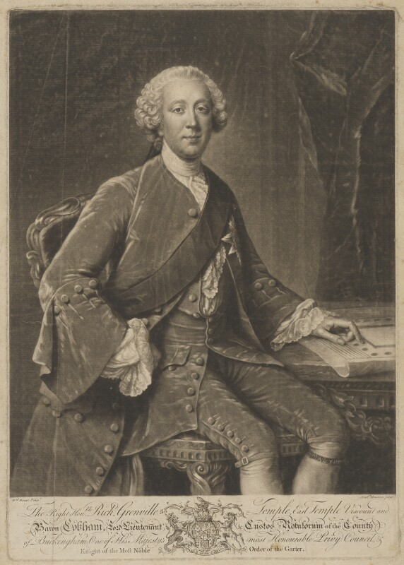 Richard Grenville-Temple, 2nd Earl Temple, by Richard Houston, after  William Hoare, circa 1757-1760 - NPG D40505 - © National Portrait Gallery, London