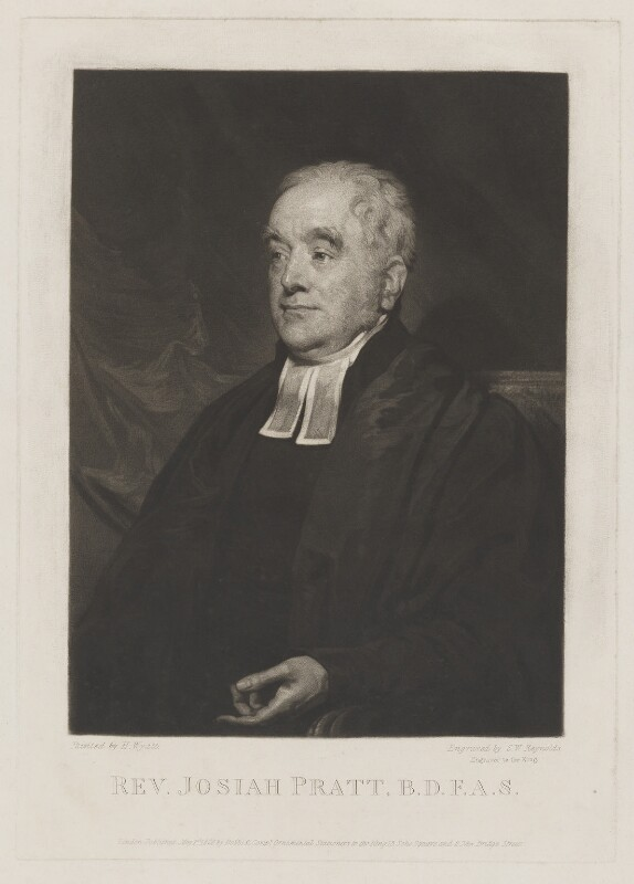 Josiah Pratt, by Samuel William Reynolds, published by  Dobbs & Co, after  Henry Wyatt, published 1 May 1826 - NPG D40486 - © National Portrait Gallery, London