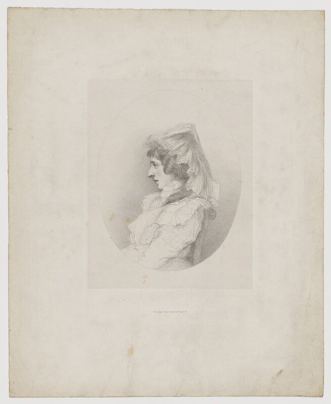 Amelia Anne Stewart (née Hobart), Marchioness of Londonderry (Lady Castlereagh), by Richard James Lane, printed by  Graf & Soret, circa 1825-1850 - NPG D40487 - © National Portrait Gallery, London