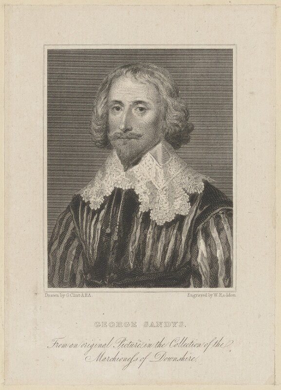 George Sandys, by William Raddon, after  George Clint, published 1824 - NPG D40549 - © National Portrait Gallery, London