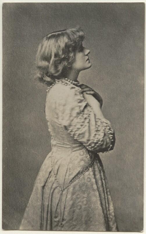 Ellen Terry as Ophelia in 'Hamlet', by Window & Grove, (circa 1878) - NPG Ax160172 - © National Portrait Gallery, London