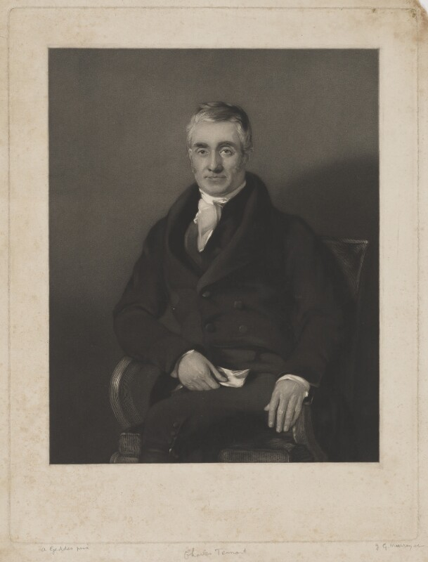 Charles Tennant, by John George Murray, after  Andrew Geddes, (1830s) - NPG D40516 - © National Portrait Gallery, London