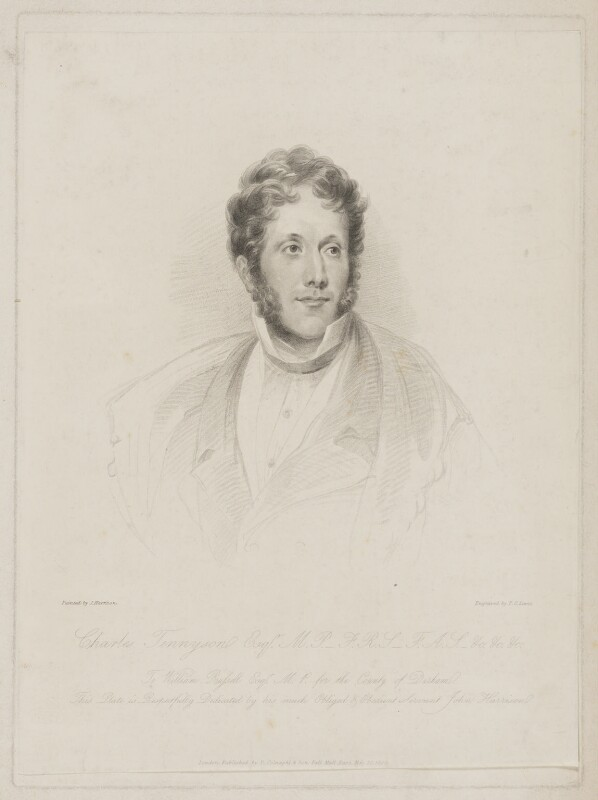 Charles Tennyson d'Eyncourt, by Frederick Christian Lewis Sr, published by  Colnaghi & Son, after  John Harrison Jr, published 20 May 1829 - NPG D40525 - © National Portrait Gallery, London